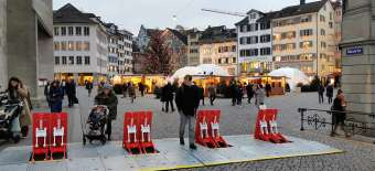 Terror protection with HVM barrier at Zürich Christmas market